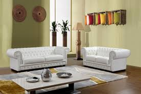 furniture clean white sofa with tufted back rest in white tone