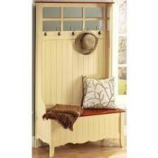 Wood Hall Tree Storage Bench French Country Hall Tree Storage Bench Wide Tan By Home Decorators