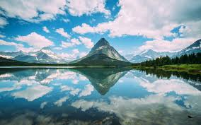 nature lake reflections wallpapers nature landscape mountain glacier national park montana lake