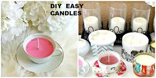 tea cup candles diy how to make candles teacup candle