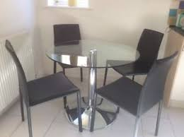 Dining Chairs Marks And Spencer Marks And Spencer Glass Dining Table And 4 Bonded Leather