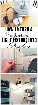 convert hardwire light to plug in how to turn a hard wired light fixture into a plug in the happy