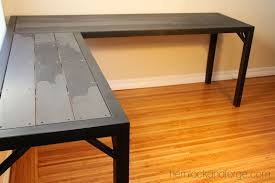 Flat Computer Desk Industrial Office Table All Steel Construction Black Patina And