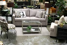 Fabric Living Room Furniture by Furniture Fancy Gray Fabric Modern Living Set With Rectangular