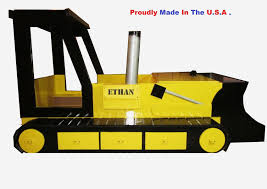 custom bulldozer bed toddler to twin convertible by sonoran