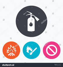 fire flame icons fire extinguisher sign stock vector 359139563