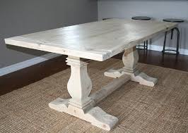 reclaimed trestle dining table reclaimed wood trestle dining table contemporary custom by santini