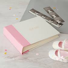 baby girl photo album new baby girl album by harris jones notonthehighstreet