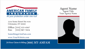 One Hour Business Cards Order American Family Insurance Business Card Templates