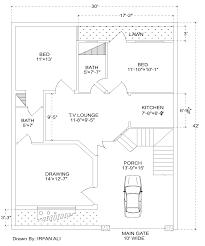 Home Design 8 Marla 6 Marla House Plan 30 U0027 42 U0027 Modern House Plan