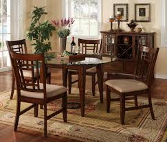 round glass dining table and 4 chairs applying round glass