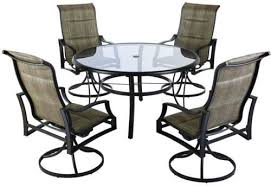 Sling Patio Dining Set Hton Bay Statesville 5 Padded Sling Patio Dining Set With