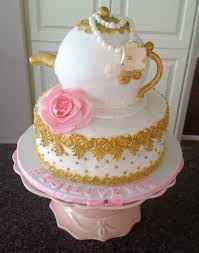 bridal shower tea party vintage tea party bridal shower cake by yum cakes and treats