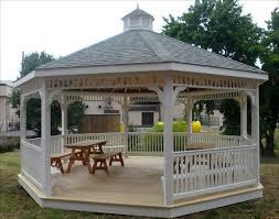 octagon gazebo as focal point of exterior u2014 home design ideas