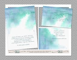 printable watercolor wedding invitation template diy painted
