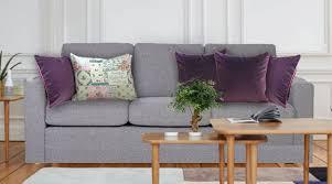 coussin déco canapé coussin déco en velours violet haut de gamme et coussin romantique