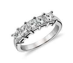 Wedding Rings Princess Cut by Classic Princess Cut Five Stone Diamond Ring In Platinum 1 50 Ct