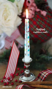 diy christmas countdown candle for the holidays transfer any