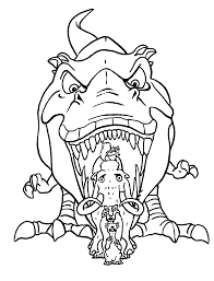 pretty design ice age coloring page diego angry with sid