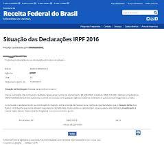 demonstrativo imposto de renda 2015 do banco do brasil sua declaração está na base de dados da receita federal sifnificado