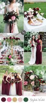 wedding colors wedding trends 10 fantastic burgundy color combos for 2017 pink