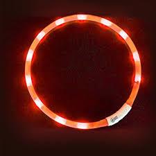 light up collar amazon led dog collar larootm flashing led dog safety collar light up pet