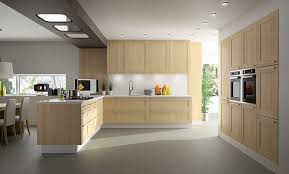 contemporary kitchen wooden island inside frame teinte