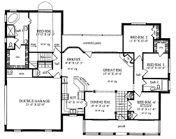 plan42 country style house plan 4 beds 2 baths 1953 sq ft plan 42 553