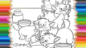 the aristocats coloring pages l coloring markers videos for