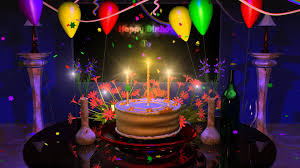 attractive happy birthday to you cake candles balloons decorations