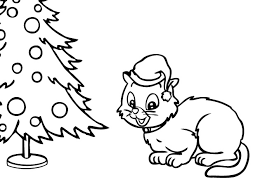 christmas kitten coloring pages learntoride