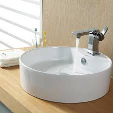 bathroom round modern bathroom sinks with modern faucet also