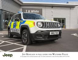 white jeep renegade jeep renegade cops full police livery in extended test press