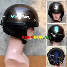 Helm Catok jual helm retro catok coklat motif i my bike rodadua net