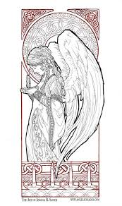 free guardian angel coloring pages printable snow pictures