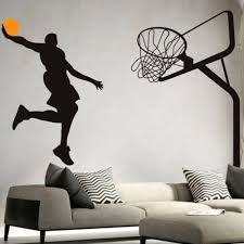 online get cheap basketball wall murals aliexpress com alibaba basketball dunk sport wall art decal vinyl removable wall sticker pvc wall mural wall art decal