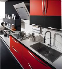 Red Kitchen Faucet by Create Incredible Kitchen With Red Kitchen Cabinet Designoursign