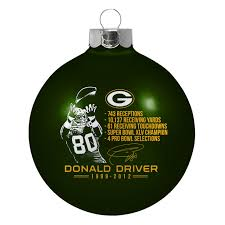 green bay packers donald driver induction bulb ornament at the