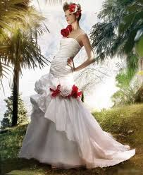 Red And White Wedding Dresses 13 Best Peace Red White Wedding Gowns Images On Pinterest