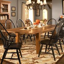 decorating impressive old attic heirloom furniture for kitchen or fascinating lamps over beautiful rectable wood dining table and black dining chairs on stylish area rug