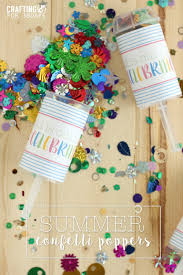 summer confetti party poppers