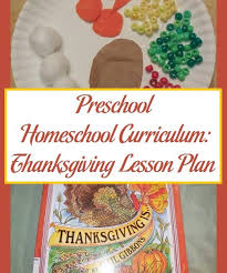 preschool homeschool curriculum thanksgiving lesson plan