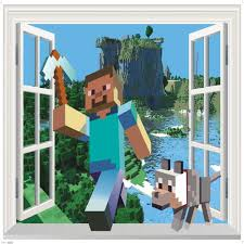 aliexpress com buy 2017 newest 3d minecraft wall stickers for