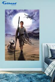 71 best star wars bedroom ideas for boys kids home decor the rey mural wall decal provides an easy decorating solution all of fathead s star wars movies wall decals are reusable without damaging walls