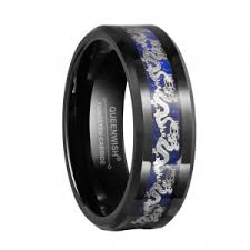 black and blue wedding rings queenwish lnlay wedding ring celtic tungsten rings