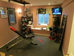 Home Gym Interior Design Ideas Home Gym Ideas With Floor Mats And Floor Mirror Also Built