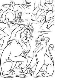 lion king coloring pages simba nala simba flowers
