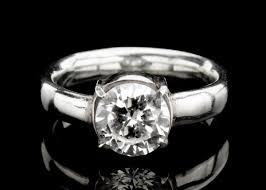 white zircon rings images Solitaire engagement ring white zircon ring in by shemijewelry jpg