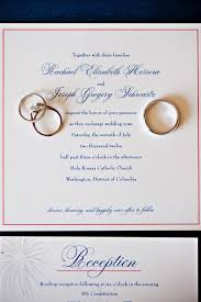 catholic wedding invitations washington dc wedding ceremony rachael joe united with