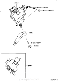 front steering gear u0026 link toyota part list jp carparts com